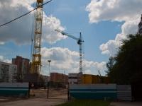 Новосибирск, улица Троллейная, дом 12. строящееся здание