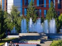 """Новосибирск, улица Каменская. фонтан """"Музыкальный фонтан"""""""