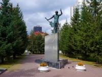 """Новосибирск, улица Каменская. памятник """"В.С. Высоцкому"""""""