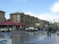 Novosibirsk, Karl Marks avenue, house 39. Apartment house with a store on the ground-floor