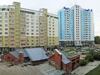Новосибирск, Горский микрорайон, дом 43. жилой дом с магазином