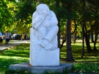 Novosibirsk, sculpture ПастушокSovetskaya st, sculpture Пастушок
