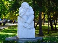 Novosibirsk, sculpture ПастушокSovetskaya st, sculpture Пастушок