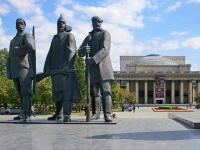 Novosibirsk, monument РеволюционерамKrasny Blvd, monument Революционерам