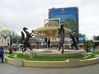 Новосибирск, скульптурная композиция Сибирские просторыКрасный проспект, скульптурная композиция Сибирские просторы
