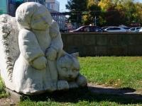 新西伯利亚市, 雕塑 Девочка Маришка с котенком по имени МуренкаKrasny Blvd, 雕塑 Девочка Маришка с котенком по имени Муренка
