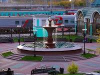 Новосибирск, улица Дмитрия Шамшурина. фонтан