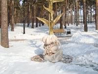 """Новосибирск, улица Богдана Хмельницкого. скульптура """"Жар-птица"""""""