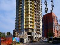 Novosibirsk, Dekabristov st, house 10. building under construction