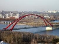 """Новосибирск, улица Большевистская. мост """"Бугринский мост"""""""