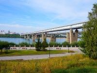 """Новосибирск, улица Большевистская. мост """"Октябрьский"""""""