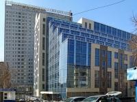 Новосибирск, улица Вокзальная магистраль, дом 1/1. офисное здание Лига-Капитал