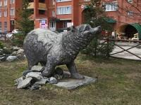 """Новосибирск, улица Ключ-Камышенское Плато. скульптура """"Медведица"""""""