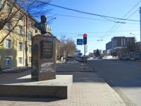 """Новосибирск, улица Писарева. памятник """"В.В. Бахиреву"""""""