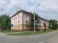 Новосибирск, улица Учительская, дом 1. многоквартирный дом