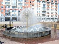 Пермь, улица Генкеля. фонтан в сквере ПГНИУ