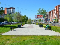 Пермь, улица Уинская. сквер Аллея журналистов