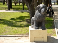 Пермь, улица Мостовая. памятник Собаке-спасателю