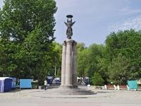 переулок Тургеневский. памятник 300-летию основания Таганрога