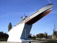 улица Петровская. памятник Азовской военной флотилии