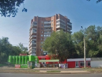 Samara, Pobedy st, house 8Г. Apartment house with a store on the ground-floor