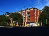Samara, Pobedy st, house 89. Apartment house with a store on the ground-floor