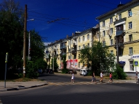 Samara, Pobedy st, house 90. Apartment house with a store on the ground-floor