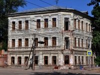 Samara, Lev Tolstoy st, house 96. building under reconstruction