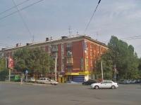 Самара, улица Александра Матросова, дом 9. жилой дом с магазином