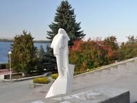 """Самара, улица Лесная. скульптура """"Белый танец"""""""