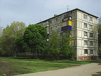 Novokuibyshevsk, Budenny st, house 6. Apartment house