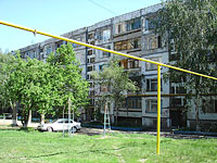 Novokuibyshevsk, Dzerzhinsky st, house 50. Apartment house