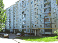 Novokuibyshevsk, Dzerzhinsky st, house 56. Apartment house