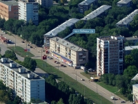 Novokuibyshevsk, Pobedy avenue, house 29. Apartment house with a store on the ground-floor