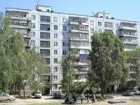 Novokuibyshevsk, Sverdlov st, house 4. Apartment house with a store on the ground-floor