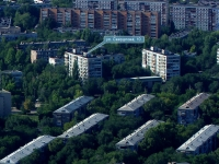 Novokuibyshevsk, Sverdlov st, house 10. Apartment house with a store on the ground-floor
