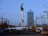 """Тольятти, улица Борковская. стела """"Ладья"""""""