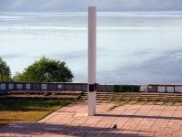 Лесопарковое шоссе. памятник стела В.В. Баныкину
