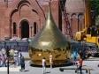 Установка купола на венчальный храм святых Петра и Февронии Муромских в Тольятти