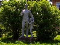"""Сызрань, улица Новостроящаяся. памятник """"Солдату"""""""