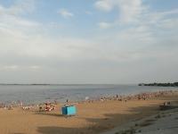Сызрань, улица Река Воложка. набережная городской пляж