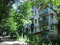 neighbour house: road. Ulyanovskoe, house 9. Apartment house