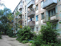 neighbour house: road. Ulyanovskoe, house 21. Apartment house
