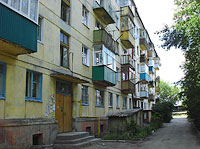 neighbour house: road. Ulyanovskoe, house 27. Apartment house