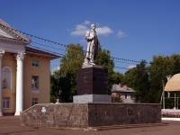 Похвистнево, улица Ленинградская. памятник Ленину В.И.
