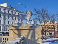 "neighbour house: avenue. Lenin. sculpture ""Лев"""