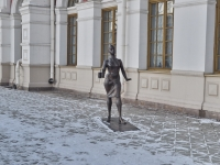Yekaterinburg, sculpture ПроводницаVokzalnaya st, sculpture Проводница