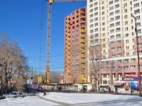 Yekaterinburg, Tramvayny alley, house 15/СТР. building under construction