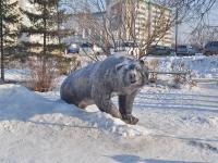 Верхняя Пышма, улица Орджоникидзе. скульптура Медведь