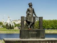 Тверь, набережная Михаила Ярославича. памятник Пушкину А. С.